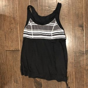 Lululemon Exercise Tank Top - Black and White